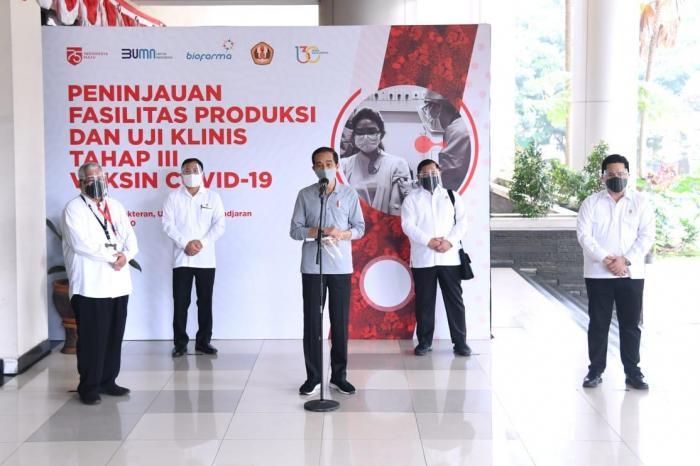 Presiden Jokowi Mengatakan izin penggunaan darurat vaksin Covid-19 akan dikeluarkan BPOM Pekan ini
