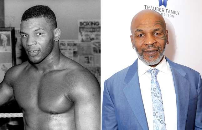 Mike Tyson dulu dan sekarang (1980, 2019)