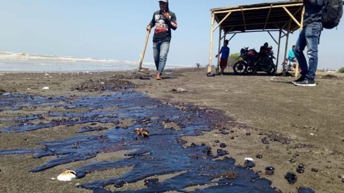 Sejumlah muara sungai di Karawang masih tercemar limbah tumpahan minyak Pertamina PHE ONWJ