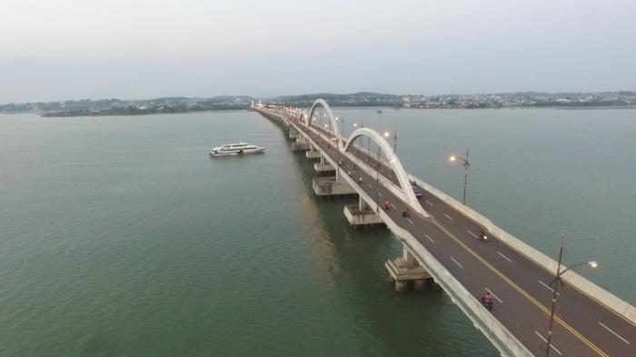 Dinas PU Menyatakan, Empat tiang pondasi Jembatan 2 Dompak Tanjungpinang putus