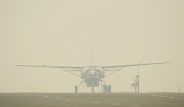 Transportasi Udara terganggu, ASITA desak Pemrov Riau segera atasi asap