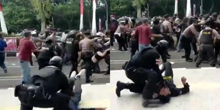 Polisi 'Smackdown' Mahasiswa yang sedang Unjukrasa, Polri Akui Ada Kesalahan SOP